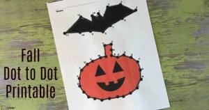 fall dot to dot printable