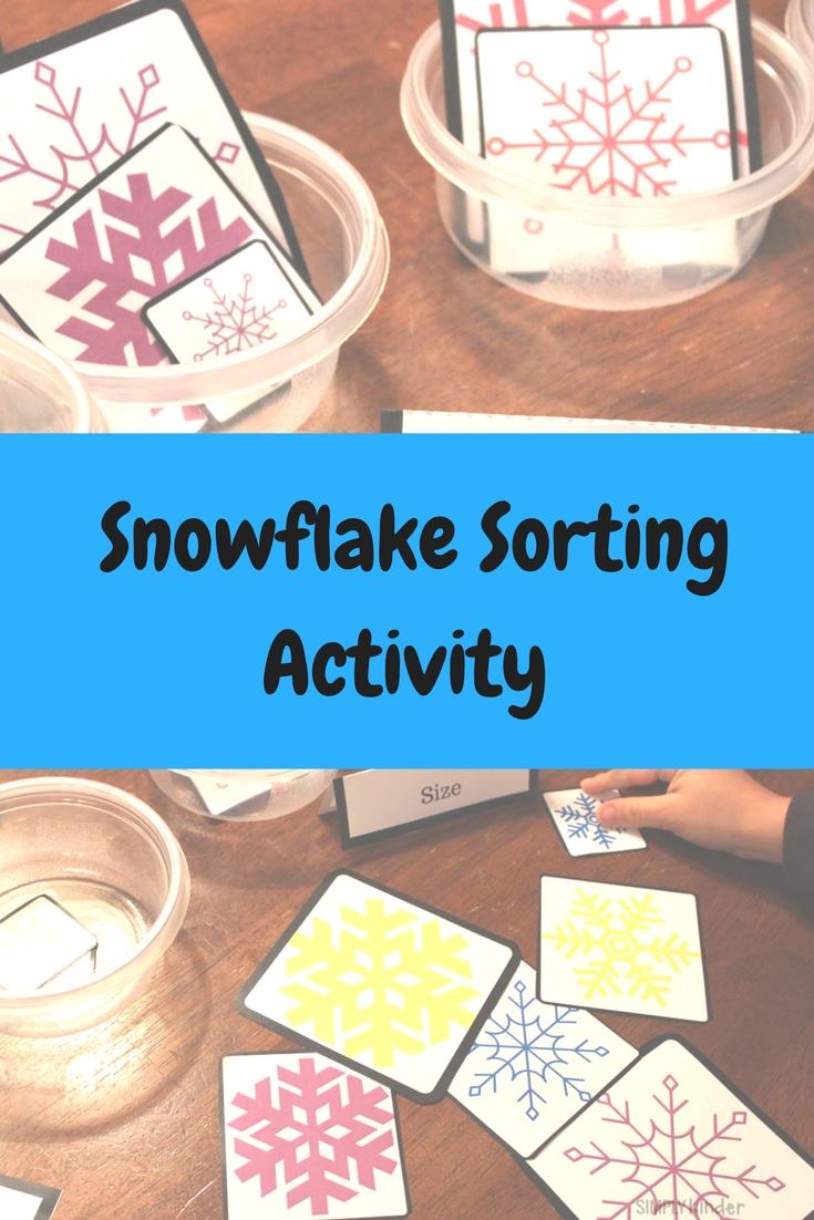 Snowflake Sorting Activity