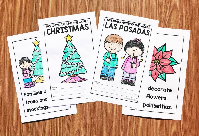 Holidays Around the World Easy Readers from Simply Kinder.