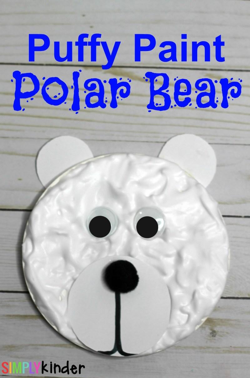 Puffy Paint Polar Bear Craft
