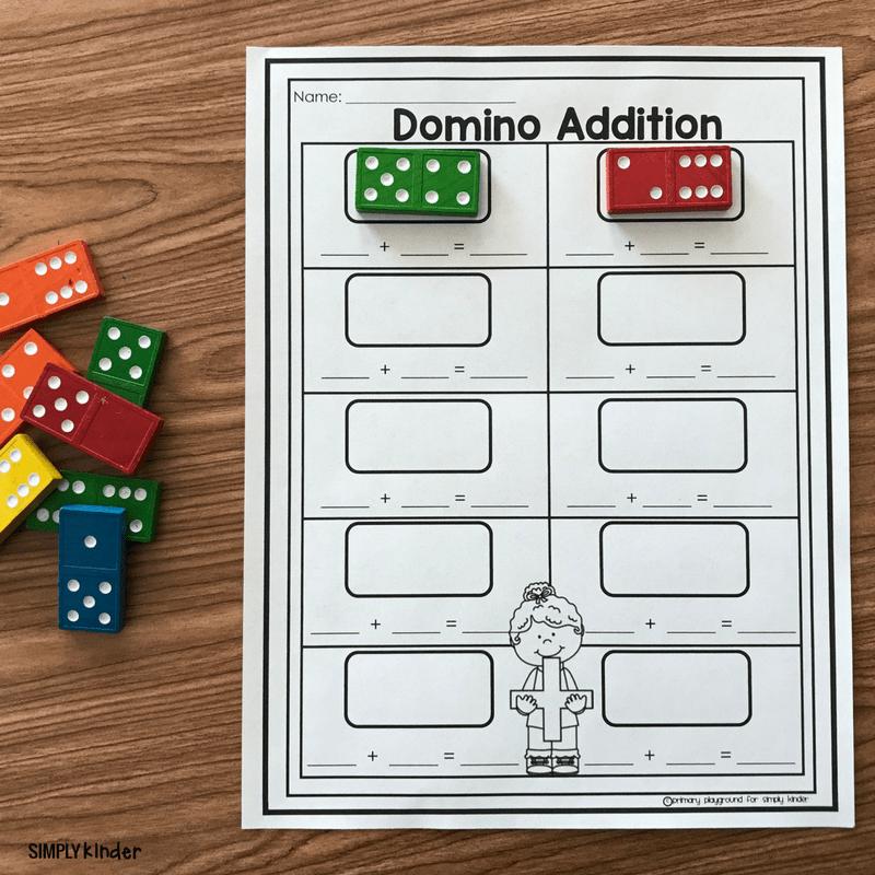 Free Printable Domino Addition - Simply Kinder
