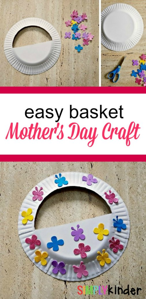 easy mother's day basket craft pinterest