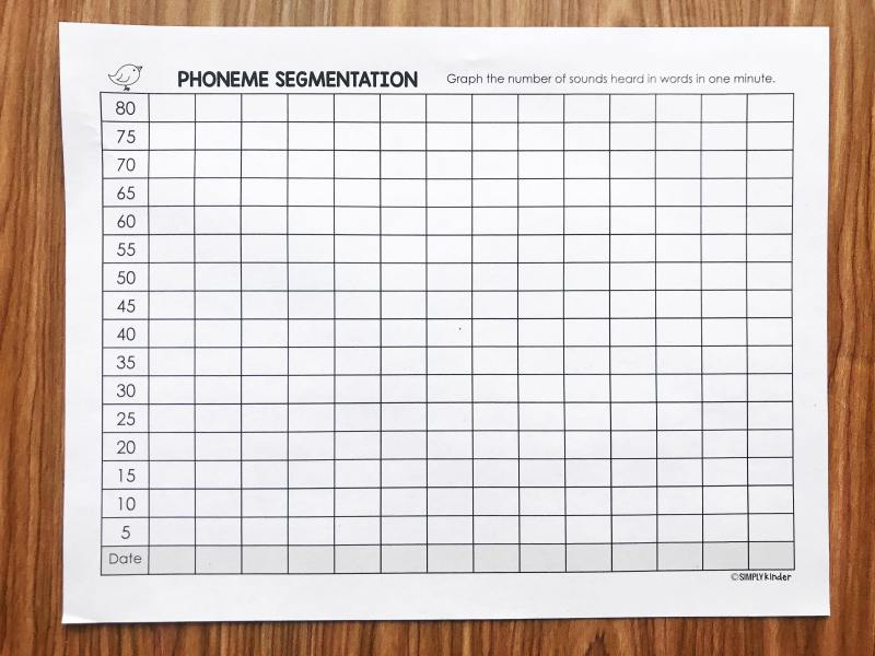 Help your students track their phonemic segmentation progress with this free student data book from Simply Kinder.