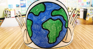Use this Free Earth Day Hat with your preschool, kindergarten, and first grade students to celebrate the Earth. Free from Simply Kinder.