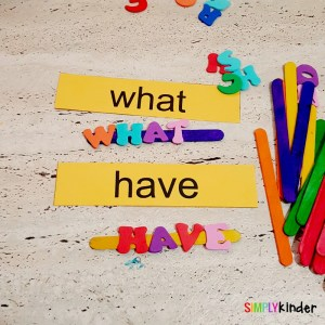 sight words centers kinder final 1