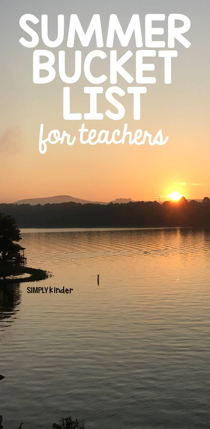 Summer break is a great time to try some things that we don't have time to do during the school year. I created a summer bucket list that is perfect for teachers – it includes a combination of relaxing, fun, and productive activities. The perfect balance for any teacher! What are your summer plans?