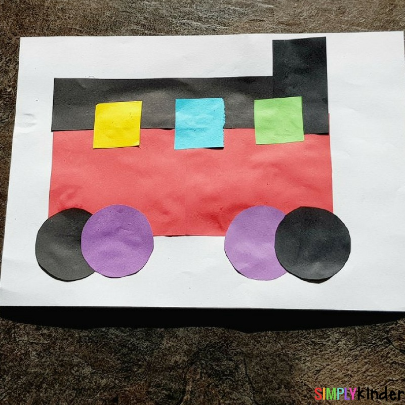 finished train craft transport collage craft