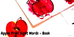 Apple Print Sight Words and Free Printable Book Project for Kindergarten and Preschool