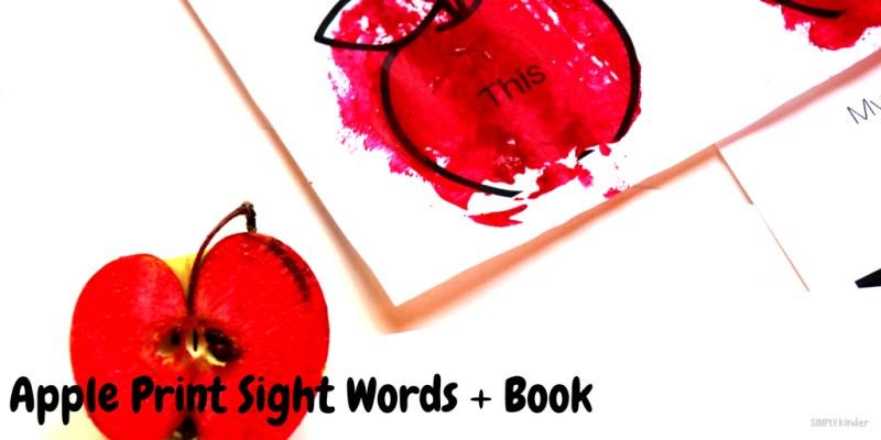 freeprintable apple print book project
