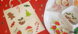 easy christmas sticker gift bags feature
