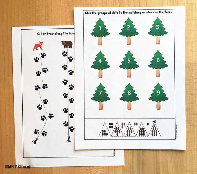 Forest animals printable pack.