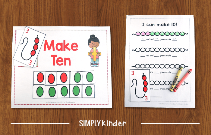 Make ten mat and worksheet