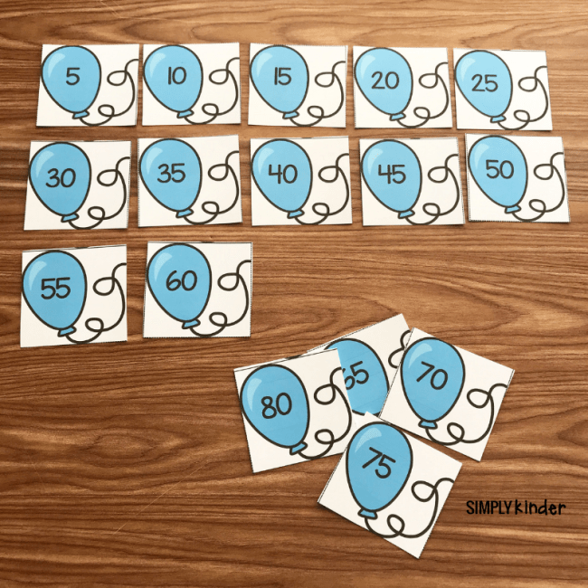 free printable skip counting by 5's