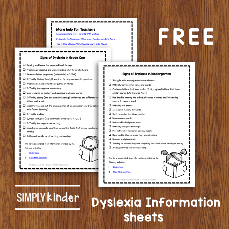 Lots of children find reading hard at first, but some never seem to progress. Do you have a student whose difficulties persist despite lots of extra attention? They may have the reading learning disorder Dyslexia. Review the warning signs and get helpful tips and strategies to help your students after diagnosis. Includes free printable information sheets. #dyslexia #learningdisability #strugglingreader