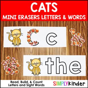cats mini erasers