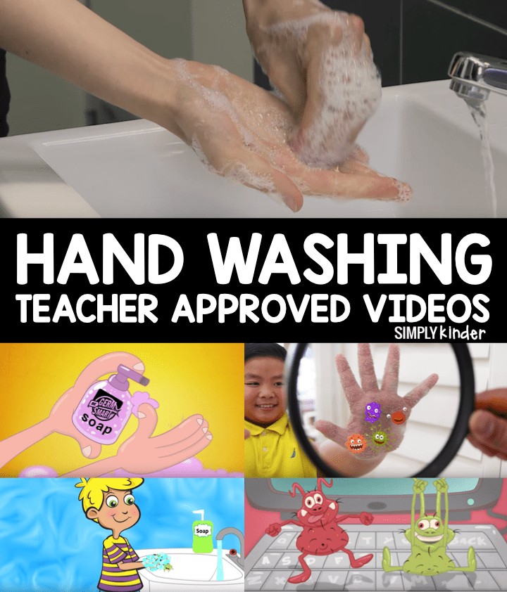 Teacher approved videos on hand washing from Simply Kinder