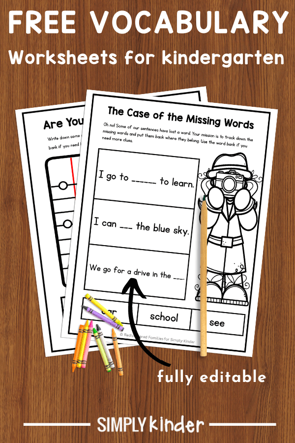 Vocabulary Activities And Ideas For Kindergarten - Simply Kinder