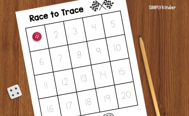 race to trace number tracing game