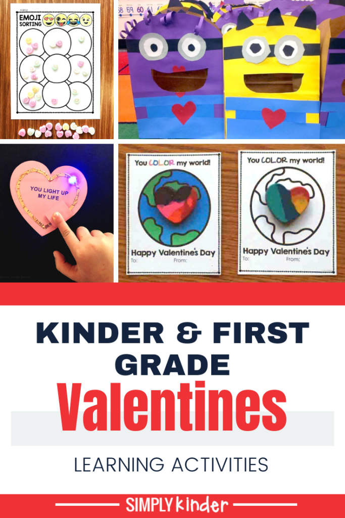 Valentines activities for Kindergarten pin