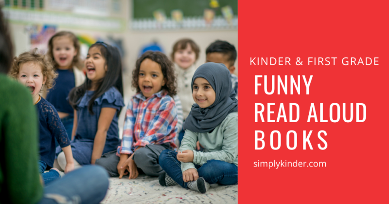 children laughing at funny picture books