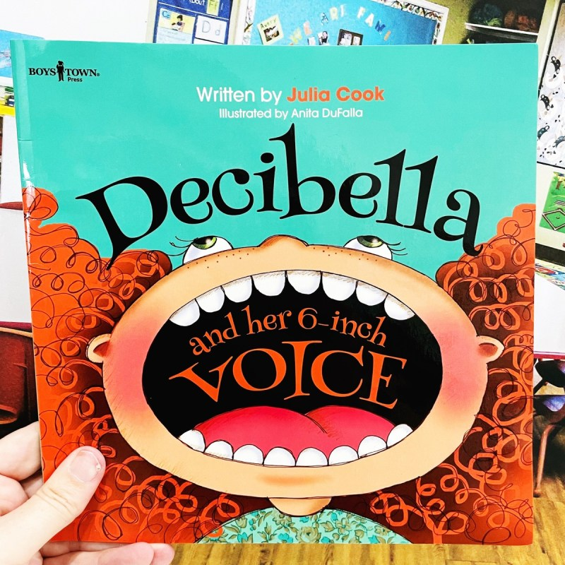 Decibella and her 6-Inch Voice Book