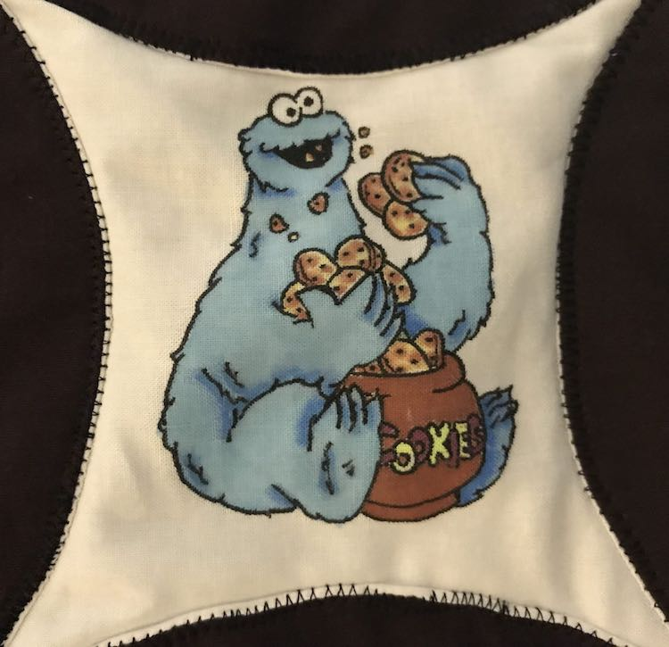 Cookie Monster from Sesame Street.