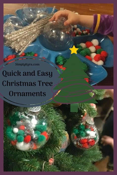 Quick and Easy Christmas Tree Ornaments
