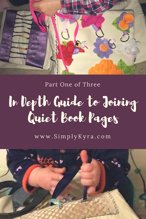 I can't wait to show you how I put my quiet book pages together. It will be a three part series. This first post will introduce how to join the pages, the materials needed, and how to prepare the page sheets. Enjoy!