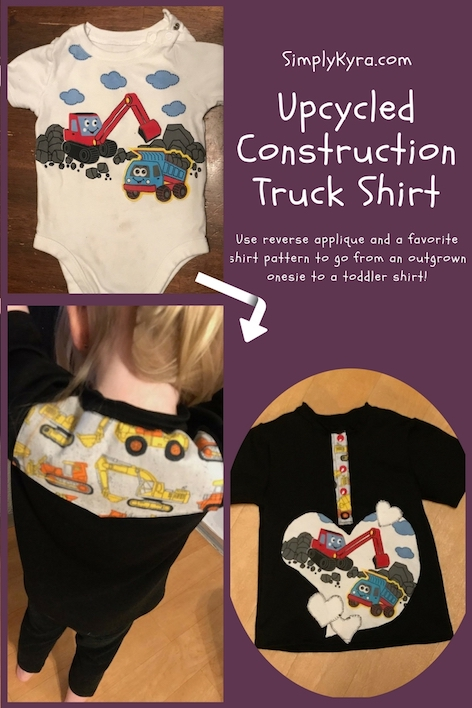Upcycled Construction Truck Shirt