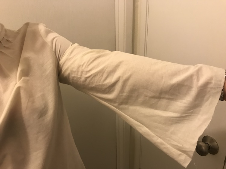 The first muslin was tight around my upper arms so I decided to do a full bust adjustment to the front pattern piece.