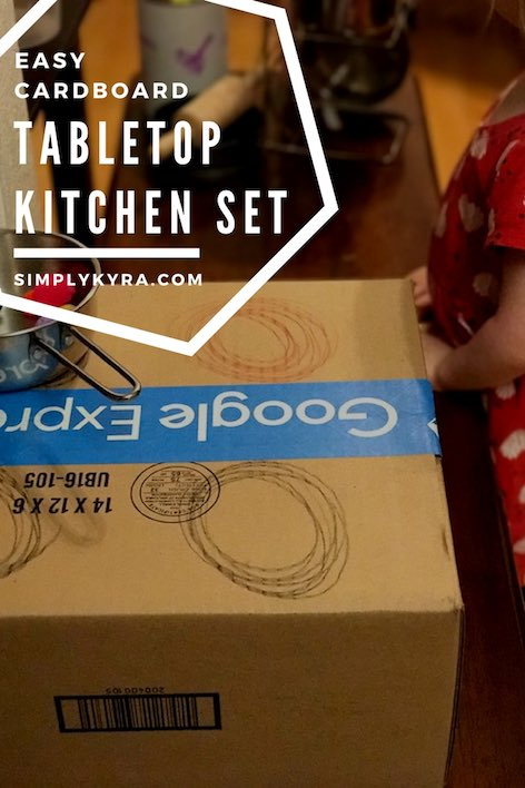 Easy Cardboard Tabletop Kitchen Set