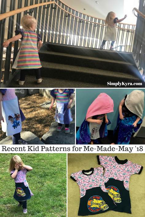 Recent Kid Patterns for Me-Made-May '18