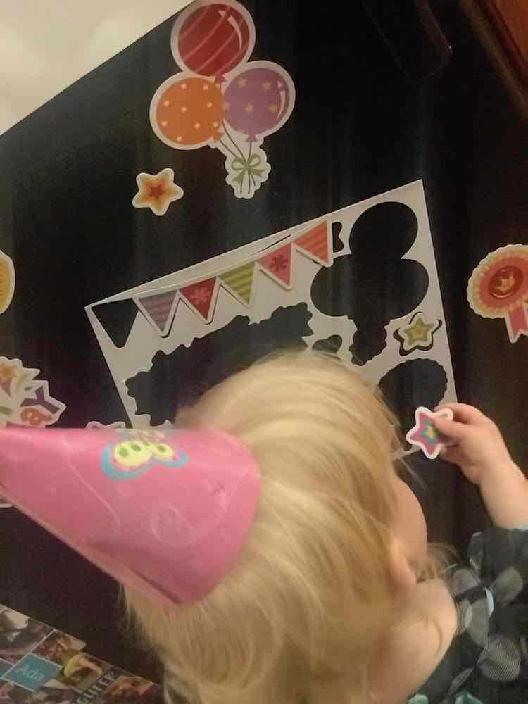 I found birthday magnets and gave them to Zoey the morning of her birthday to play with on the fridge.