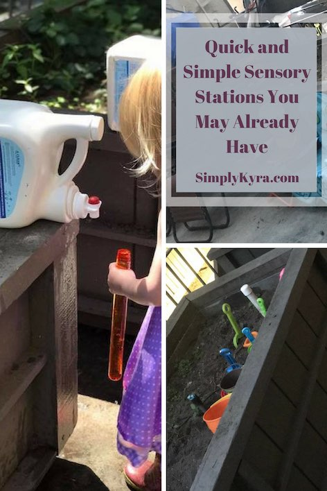 Quick and Simple Sensory Stations