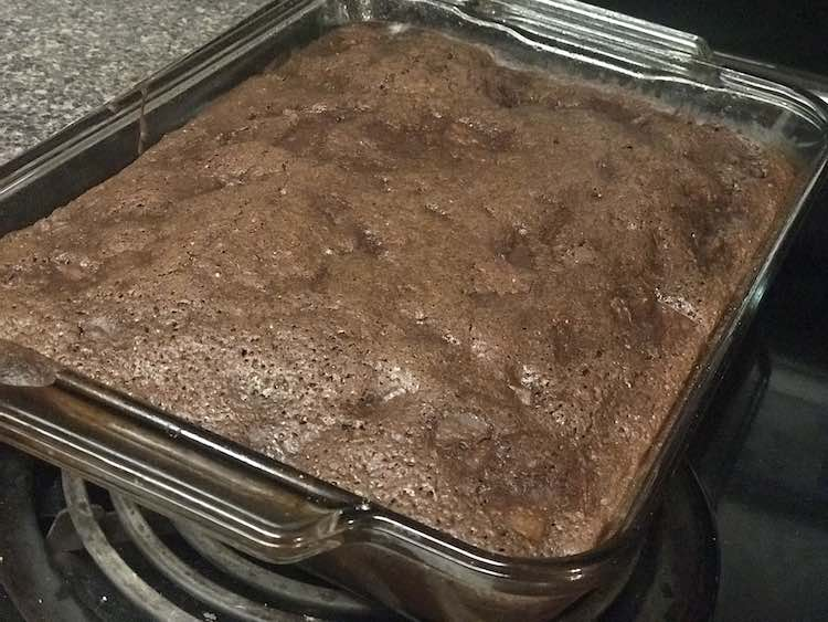 For the birthday cake we doubled the brownies and added an entire can of chunked pineapple.
