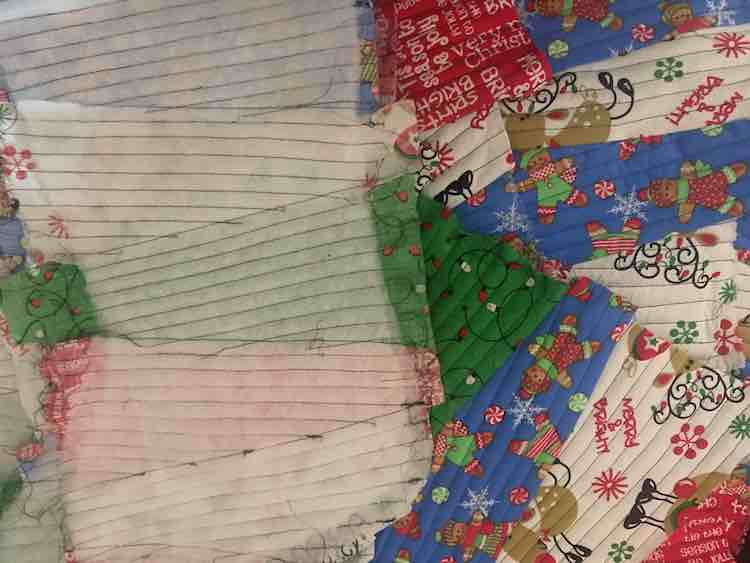 The outer layers of the stocking are now done.