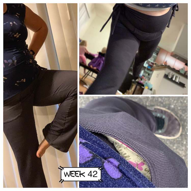 Three views of the pippa pants.
