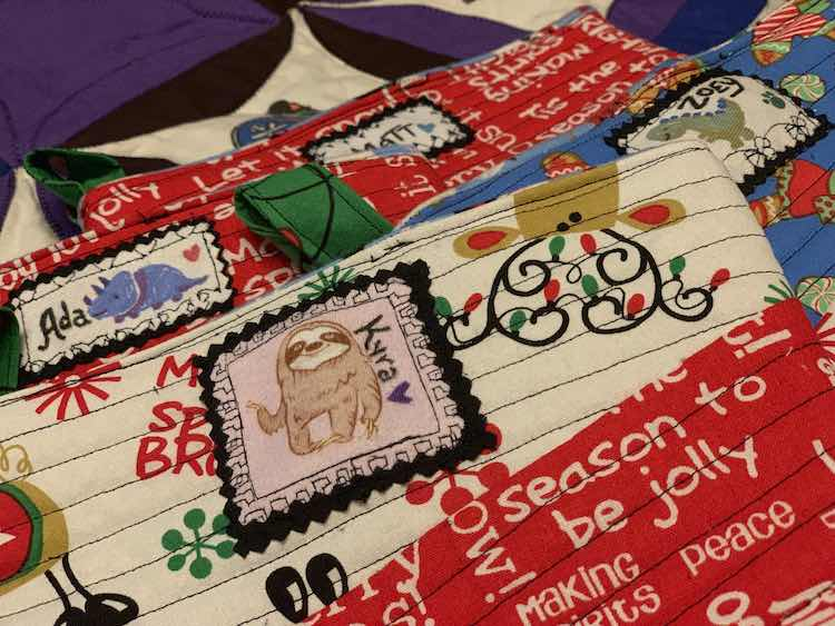 And the labels were finally sewn onto the stockings eleven months after they were made.