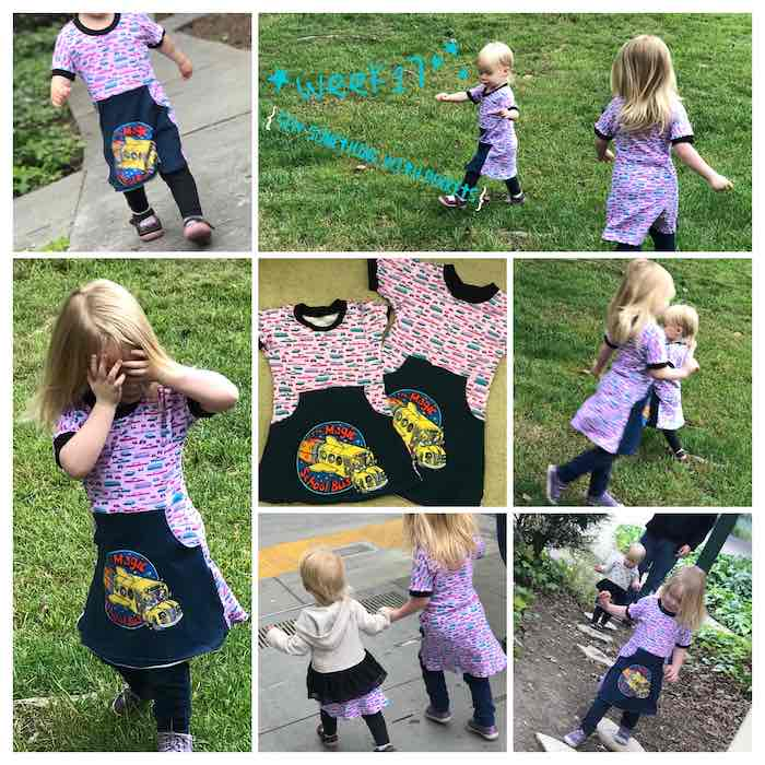 Multiple views of our magic school bus dresses.