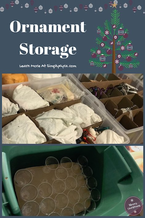 As we're starting to think about putting all our Christmas decorations away we also have to think about how to store them. Here's a solution I tried that didn't quite work for me and what we're now using now if you're interested.