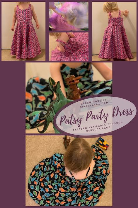 The Patsy Party dress was a fun sew that creates an epic party dress with clean hidden seams. This was an incredibly fun dress to sew up.