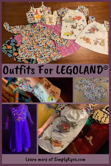 Are you heading to LEGOLAND® anytime soon? Do you sew? We recently went on a trip and I wanted my kids to wear something special for their first visit. These are the sewing patterns I made.
