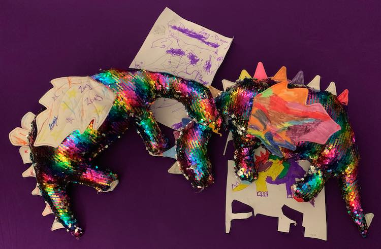 Ada and Zoey's dinosaurs.