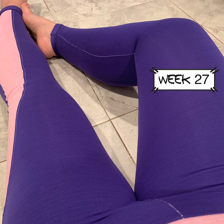 Image of the lily leggings. I was sitting down and leaned back to take the image of my legs.