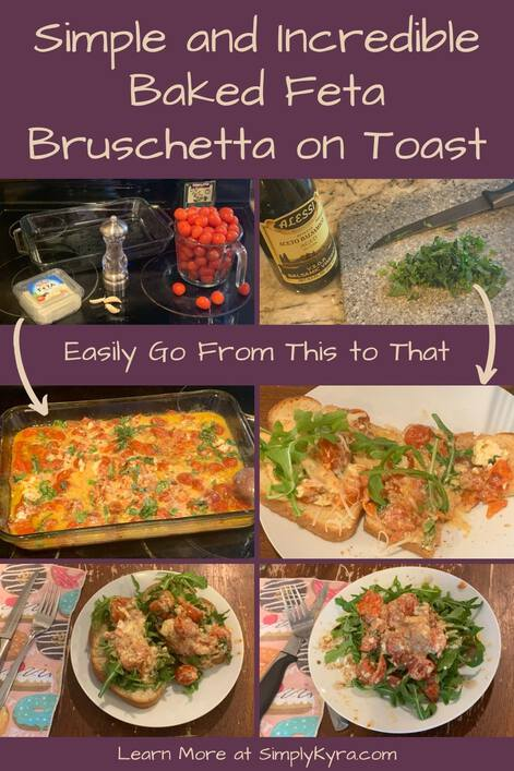 "Image is geared to be pinnable on Pinterest. It shows the blog title, a caption saying ""easily go from this to that"", arrows between the two sections, and my main URL. The top image section (the this) shows all the ingredients using two photos. The next collage (that) shows the baked dish and three ways to eat it on toast."