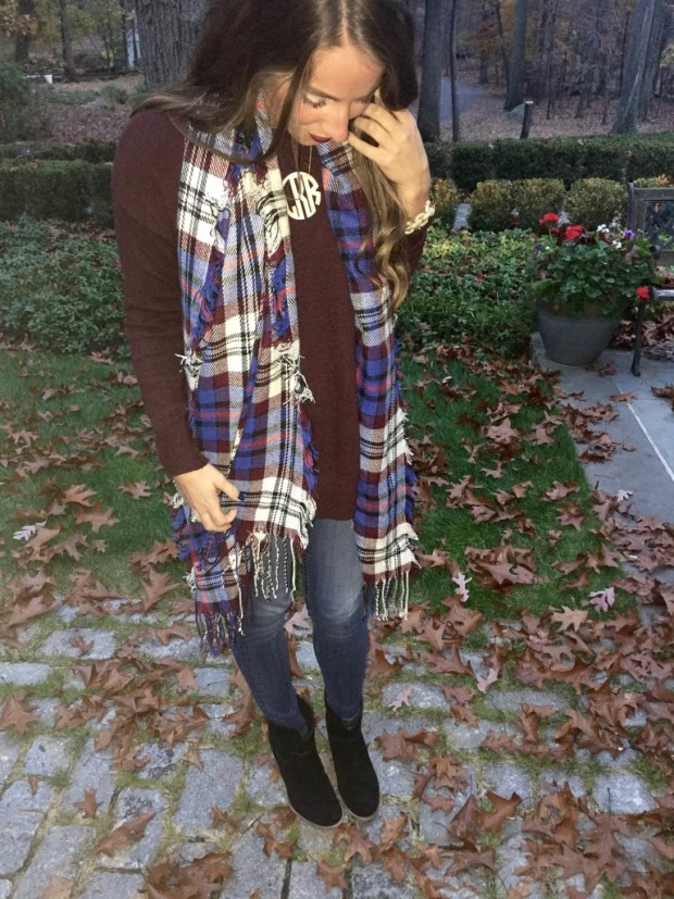 favorite scarf and sweater
