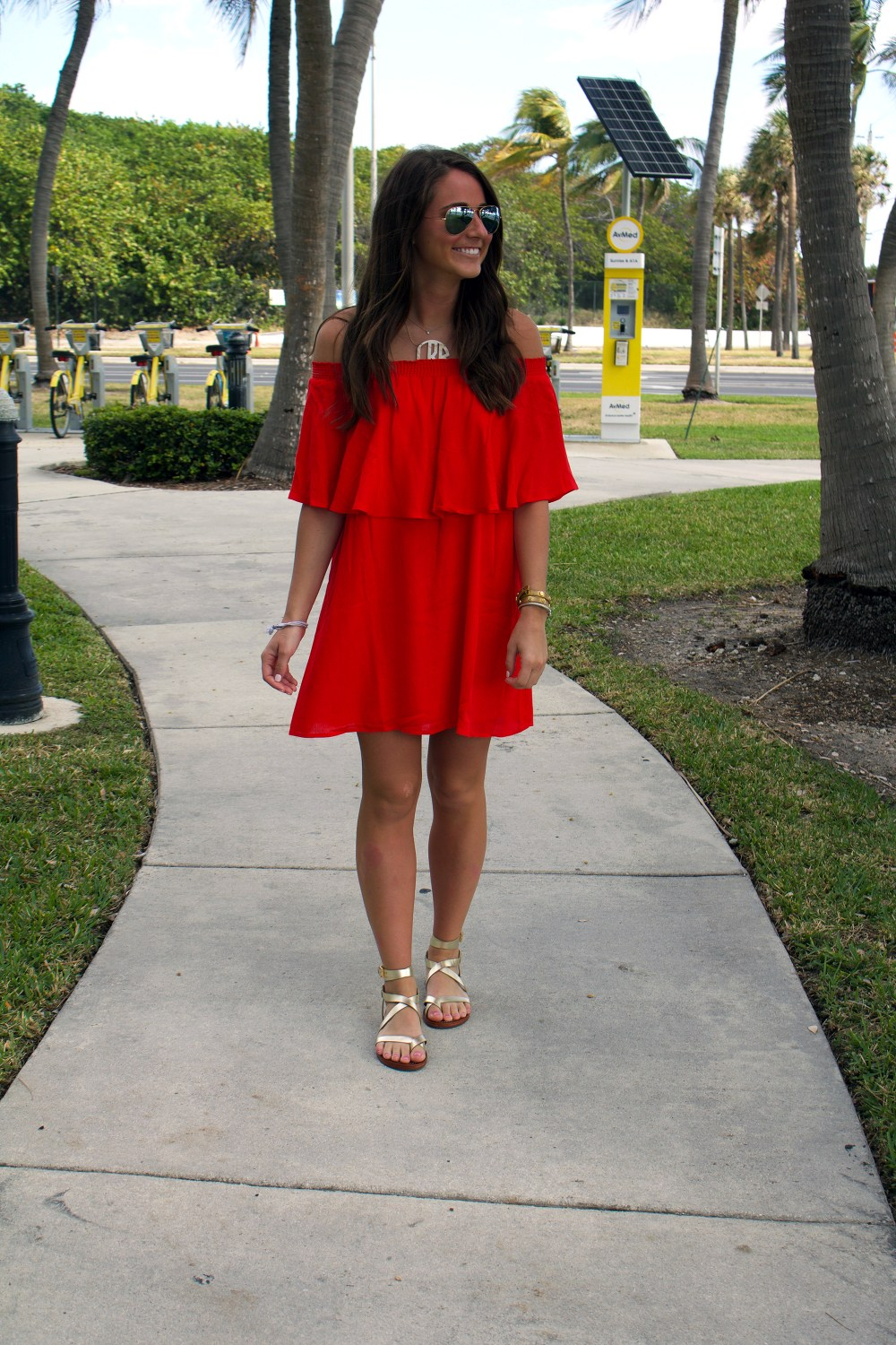 Red OTS Dress
