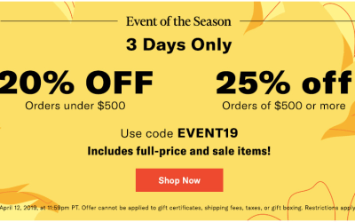 SHOPBOP SALE EVENT 2019