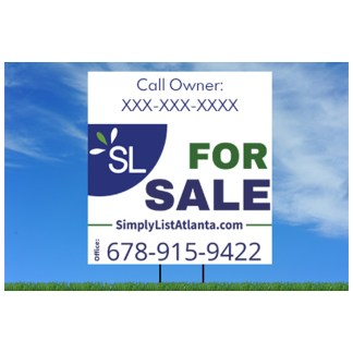 simply list for sale sign flat fee listings