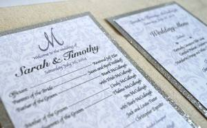 Ceremony program's and menu designed by Simply Done Invites